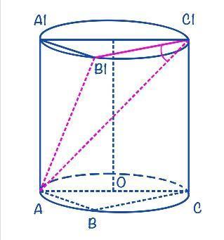 Цилиндр + угол между углов